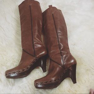 Cole Haan Kenna Brown Leather Boots Size 7.5